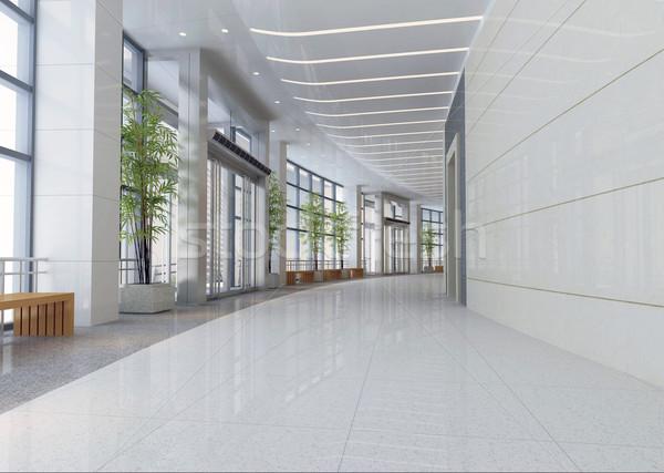 3D футуристический коридор зале современных служба Сток-фото © wxin