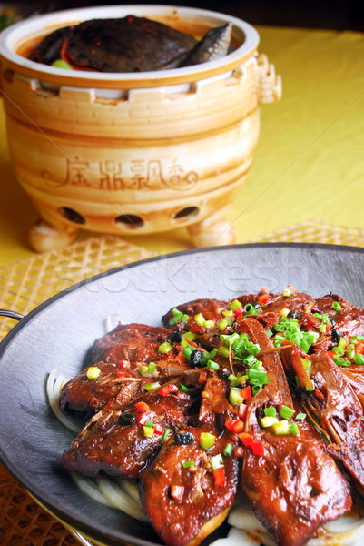 food in china-- soft-shelled turtle and goose head Stock photo © wxin
