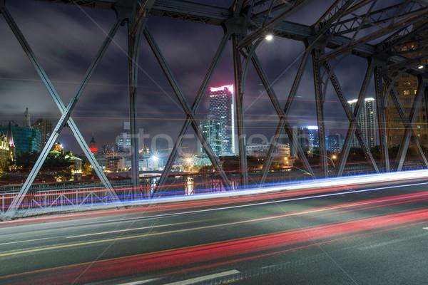 Waibaidu bridge shanghai china Stock photo © wxin