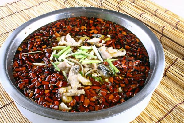 Főtt hal étel Kína étterem szakács Stock fotó © wxin