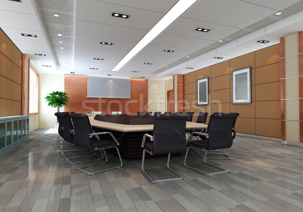 3d meeting room Stock photo © wxin