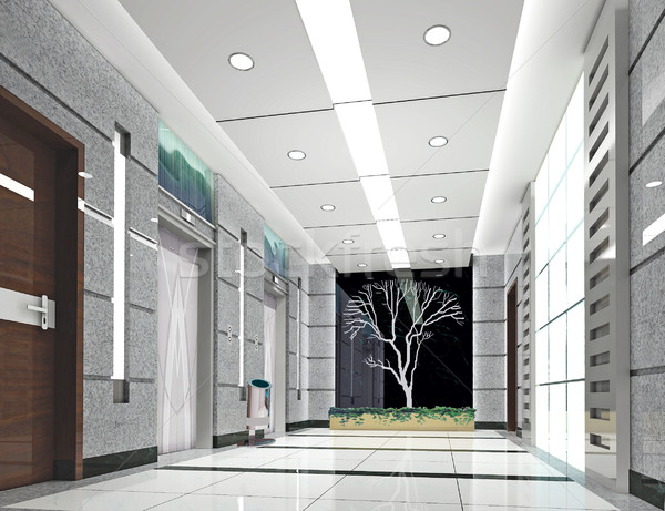 3d elevator lobby rendering Stock photo © wxin