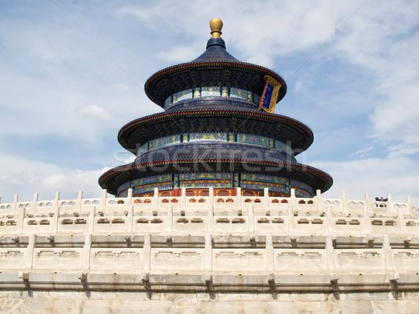 Beijing tempel hemel China fotografie Stockfoto © wxin
