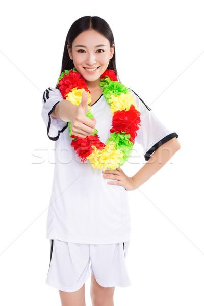 Asian meisje cheerleader chinese gelukkig Stockfoto © wxin
