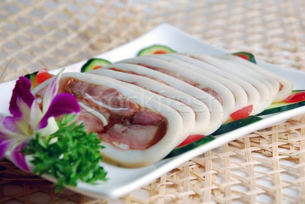 Csomagolás hús tintahal étel szakács étel Stock fotó © wxin