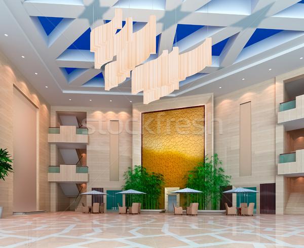 3D moderna diseno interior 3d negocios Foto stock © wxin