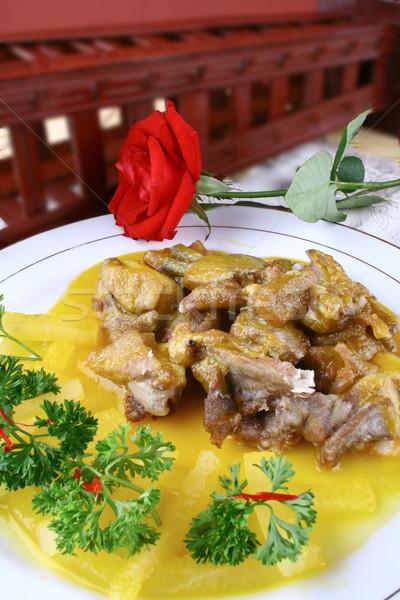 Chinese heerlijk voedsel lam kotelet oranje Stockfoto © wxin