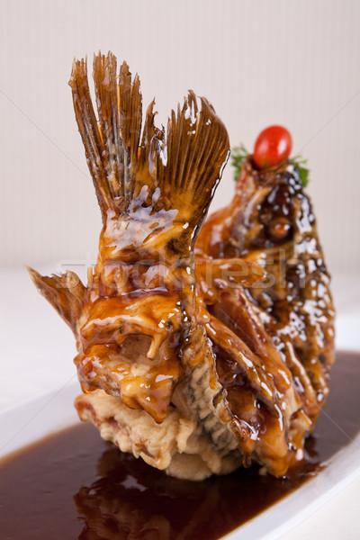 Sült hal Kína finom étterem szakács Stock fotó © wxin