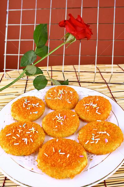 dim sum- pumpkin pie Stock photo © wxin