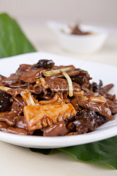pork liver and  bamboo shoots piece Stock photo © wxin
