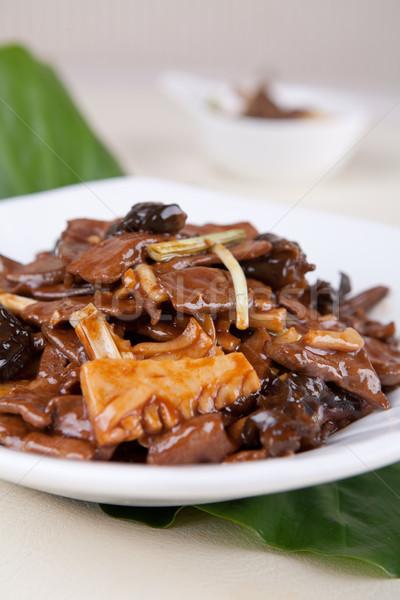 Carne di maiale fegato bambù pezzo alimentare Cina Foto d'archivio © wxin
