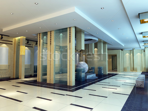 3d exhibition hall Stock photo © wxin