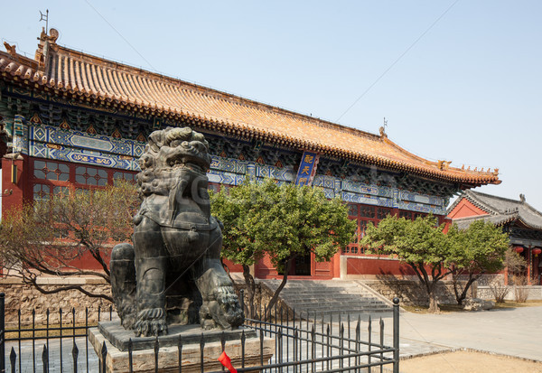 china taishan ancient buildings, daimiao Stock photo © wxin
