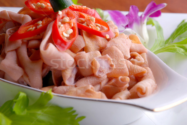 food in china--chili fried duck Intestine Stock photo © wxin