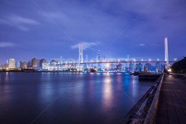Shanghai urban landscape, Nanpu Bridge Crossing the River Stock photo © wxin
