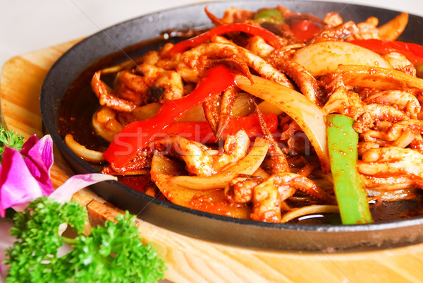 Chinese food -onion fried squid Stock photo © wxin