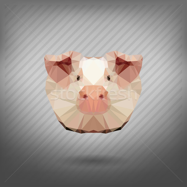 pig in the style of origami Stock photo © wywenka