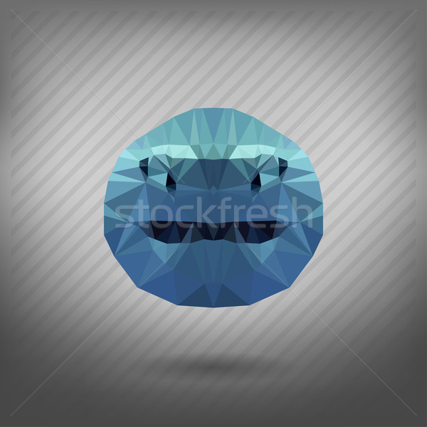 Tubarão estilo origami cara abstrato mar Foto stock © wywenka