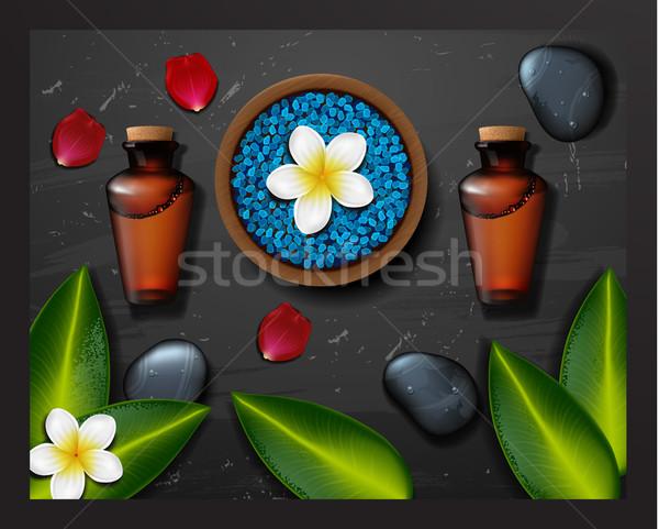 青 海塩 スパ 熱帯 花 石 ストックフォト © wywenka
