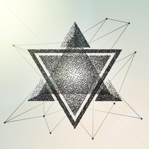 Abstrato geométrico triângulo negócio primavera Foto stock © wywenka
