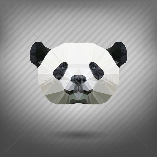 Stock photo: abstract triangle polygonal panda