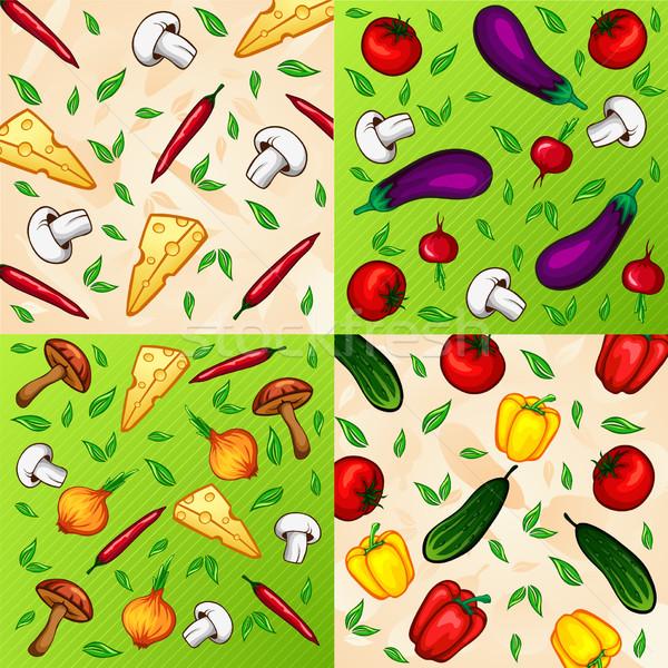 Conjunto vetor legumes comida abstrato natureza Foto stock © wywenka