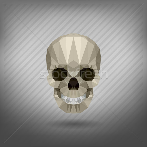 Crâne style origami corps fond mort Photo stock © wywenka
