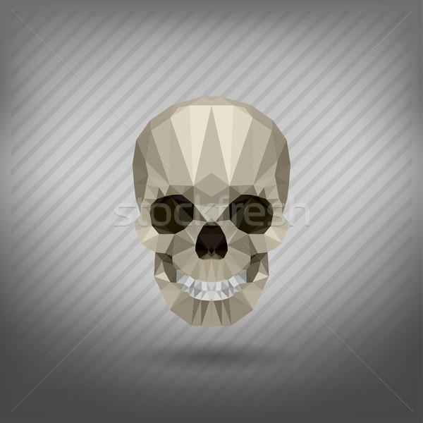 Cráneo estilo origami cuerpo fondo muerte Foto stock © wywenka