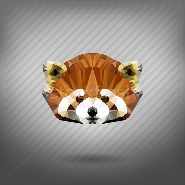 abstract triangle polygonal Lesser panda Stock photo © wywenka