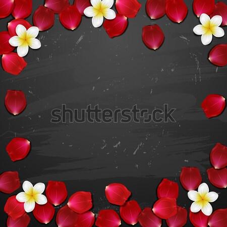 Estância termal tropical flores pedra vela árvore Foto stock © wywenka