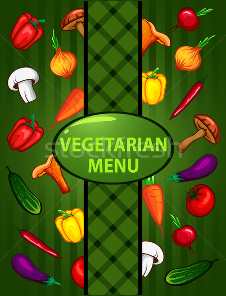 Vegetariano verde menu cibo biologico alimentare abstract Foto d'archivio © wywenka
