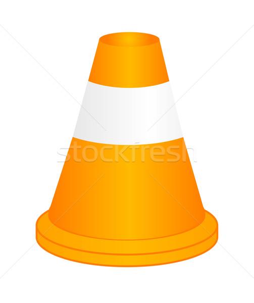 Vettore arancione autostrada traffico cono riflessione Foto d'archivio © X-etra
