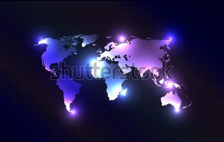 Vetor laser luzes criador original mapa Foto stock © X-etra