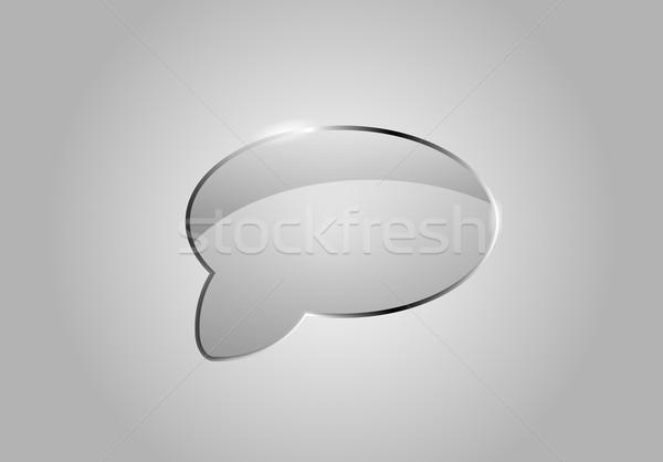 Vetor balão de fala vidro como realista Foto stock © X-etra