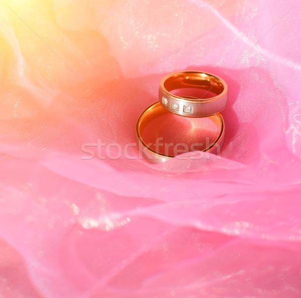 обручальными кольцами два Nice любви знак жизни Сток-фото © X-etra