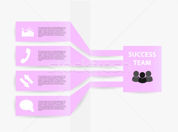 Vetor elementos negócio modelo gráfico Foto stock © X-etra