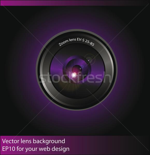 Vetor lente da câmera web design teia preto cor Foto stock © X-etra