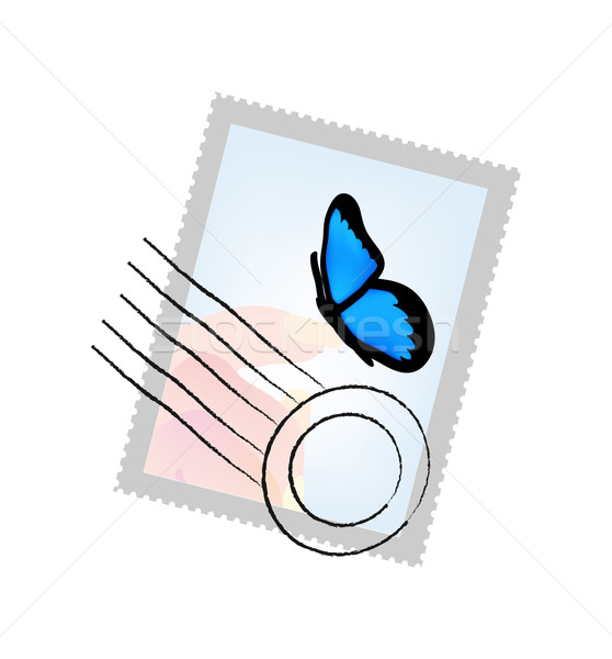 Carimbo borboleta lata cortar isolado objeto Foto stock © X-etra
