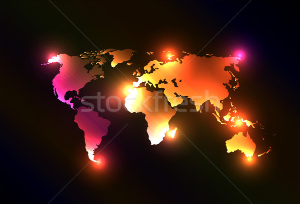 Beautiful original and creative world map Stock photo © X-etra