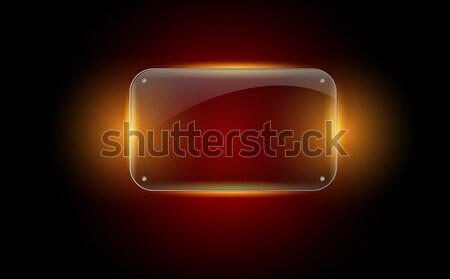 Bella vettore vetro frame lucido può Foto d'archivio © X-etra