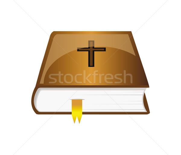 вектора Библии закладка коричневый изолированный Сток-фото © X-etra