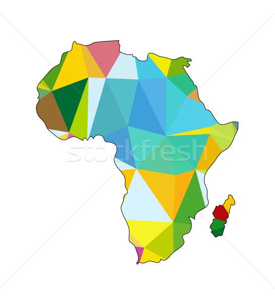Vetor polígono África abstrato triângulo mapa Foto stock © X-etra