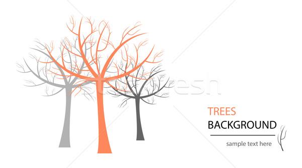Vetor árvore abstrato projeto lata usado Foto stock © X-etra