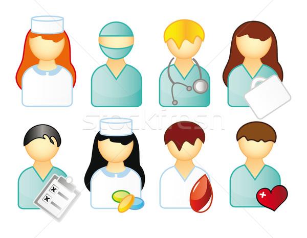 Zdjęcia stock: Ikona · ludzi · medycznych · działalności · odizolowany · biały