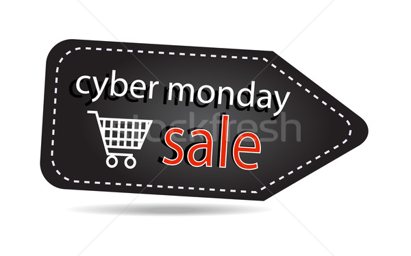 Cyber monday sales tag isolated over white background Stock photo © X-etra
