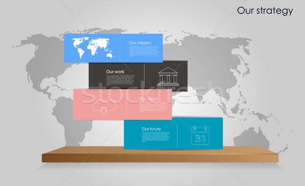 Vektor üzlet infografika modern kocka buborékok Stock fotó © X-etra