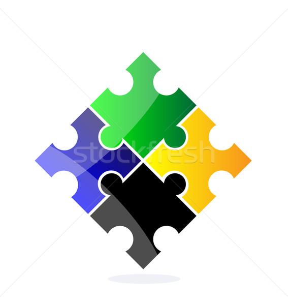 Vektor puzzle kreatív illusztráció elszigeteltség fehér Stock fotó © X-etra
