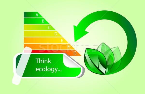 Vektor energia öko ikonok diagram absztrakt Stock fotó © X-etra