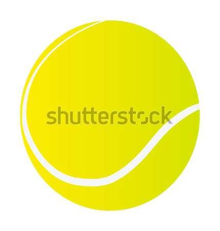 Palla da tennis isolato bianco sport mondo fitness Foto d'archivio © X-etra