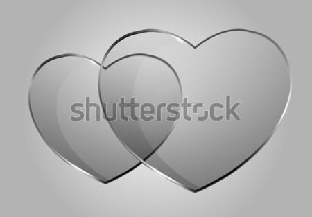 Vektor fényes szívek gyönyörű külső ahogy Stock fotó © X-etra